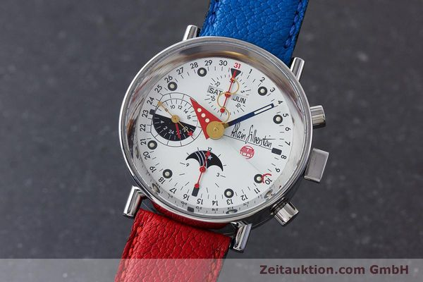 Used luxury watch Alain Silberstein Krono Bauhaus chronograph steel automatic Kal. ETA 7751  | 160987 04