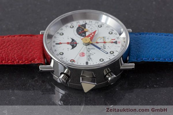 Used luxury watch Alain Silberstein Krono Bauhaus chronograph steel automatic Kal. ETA 7751  | 160987 05