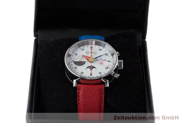 Used luxury watch Alain Silberstein Krono Bauhaus chronograph steel automatic Kal. ETA 7751  | 160987 07