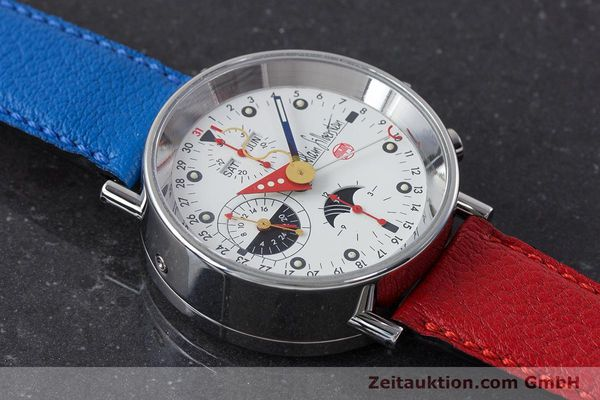 Used luxury watch Alain Silberstein Krono Bauhaus chronograph steel automatic Kal. ETA 7751  | 160987 13
