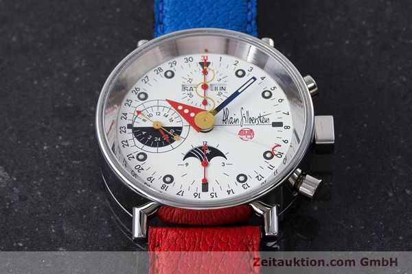Used luxury watch Alain Silberstein Krono Bauhaus chronograph steel automatic Kal. ETA 7751  | 160987 14
