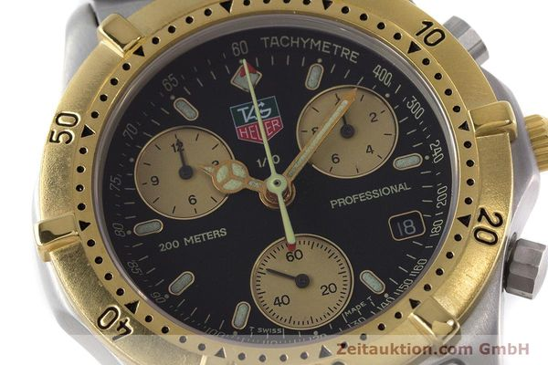 Used luxury watch Tag Heuer Professional chronograph steel / gold quartz Ref. 565.306R  | 160998 02