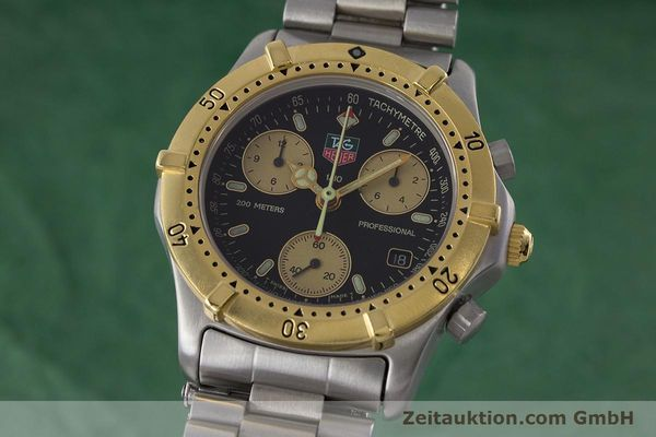 Used luxury watch Tag Heuer Professional chronograph steel / gold quartz Ref. 565.306R  | 160998 04