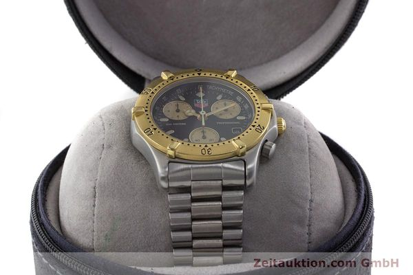 Used luxury watch Tag Heuer Professional chronograph steel / gold quartz Ref. 565.306R  | 160998 07