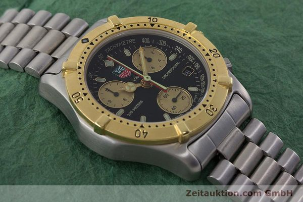 Used luxury watch Tag Heuer Professional chronograph steel / gold quartz Ref. 565.306R  | 160998 14