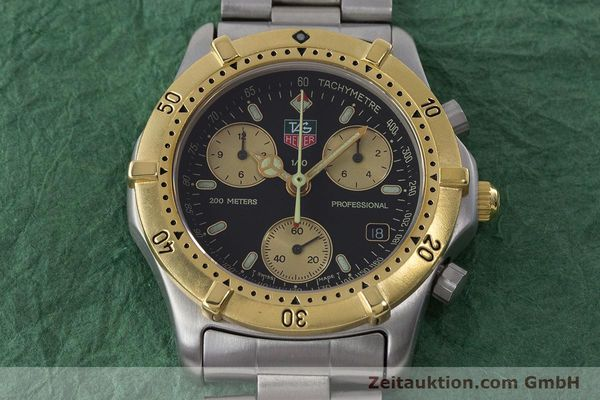 Used luxury watch Tag Heuer Professional chronograph steel / gold quartz Ref. 565.306R  | 160998 15
