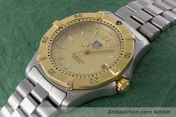 Used luxury watch Tag Heuer Professional steel quartz Kal. 4.96 ETA 955112 Ref. WK1121  | 160999 01
