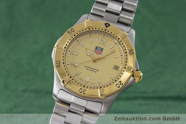 Used luxury watch Tag Heuer Professional steel quartz Kal. 4.96 ETA 955112 Ref. WK1121  | 160999 04