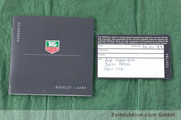 Used luxury watch Tag Heuer Professional steel quartz Kal. 4.96 ETA 955112 Ref. WK1121  | 160999 08