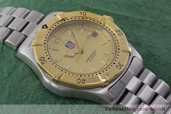 Used luxury watch Tag Heuer Professional steel quartz Kal. 4.96 ETA 955112 Ref. WK1121  | 160999 14