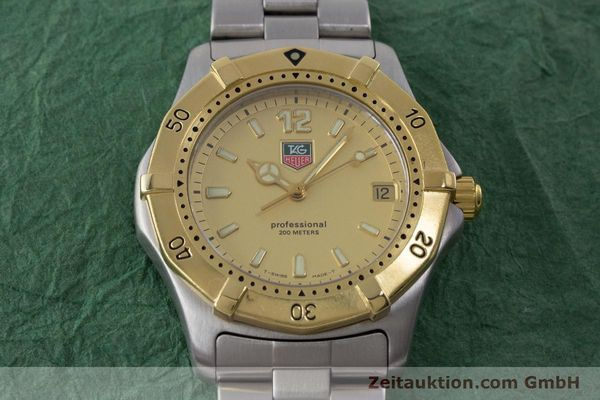Used luxury watch Tag Heuer Professional steel quartz Kal. 4.96 ETA 955112 Ref. WK1121  | 160999 15