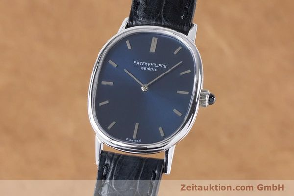PATEK PHILIPPE 18K WEISSGOLD ELLIPSE D´OR HANDAUFZUG 3748 MEDIUM VP: 19930,- EUR [161001]