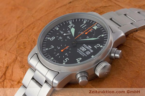 Used luxury watch Fortis Flieger Chronograph chronograph steel automatic Kal. ETA 7750 Ref. 597.10.141.2  | 161004 01