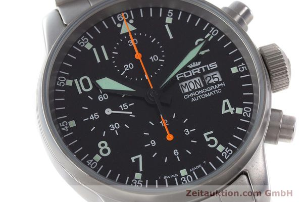 Used luxury watch Fortis Flieger Chronograph chronograph steel automatic Kal. ETA 7750 Ref. 597.10.141.2  | 161004 02