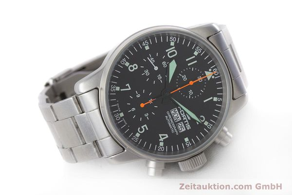 Used luxury watch Fortis Flieger Chronograph chronograph steel automatic Kal. ETA 7750 Ref. 597.10.141.2  | 161004 03