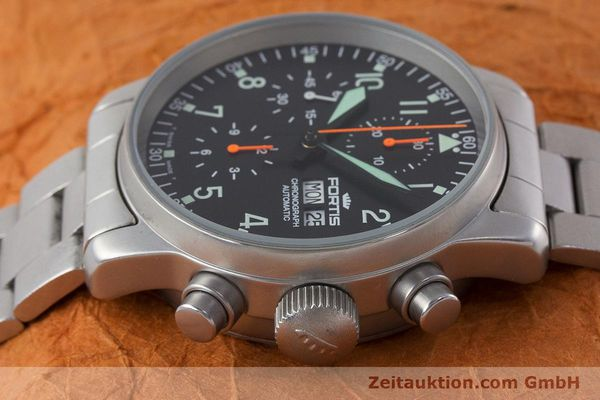 Used luxury watch Fortis Flieger Chronograph chronograph steel automatic Kal. ETA 7750 Ref. 597.10.141.2  | 161004 05