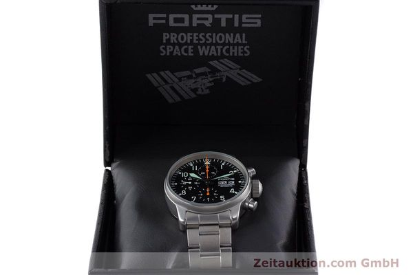 Used luxury watch Fortis Flieger Chronograph chronograph steel automatic Kal. ETA 7750 Ref. 597.10.141.2  | 161004 07