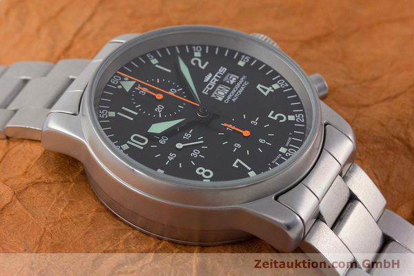 Used luxury watch Fortis Flieger Chronograph chronograph steel automatic Kal. ETA 7750 Ref. 597.10.141.2  | 161004 14