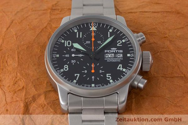 Used luxury watch Fortis Flieger Chronograph chronograph steel automatic Kal. ETA 7750 Ref. 597.10.141.2  | 161004 15