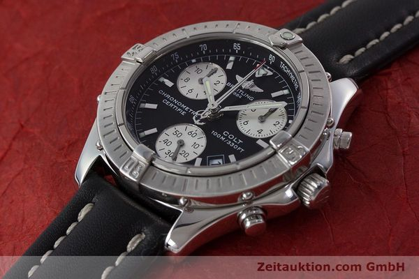 Used luxury watch Breitling Colt chronograph steel quartz Kal. B73 ETA 251.232 Ref. A73350  | 161010 01