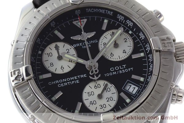 Used luxury watch Breitling Colt chronograph steel quartz Kal. B73 ETA 251.232 Ref. A73350  | 161010 02