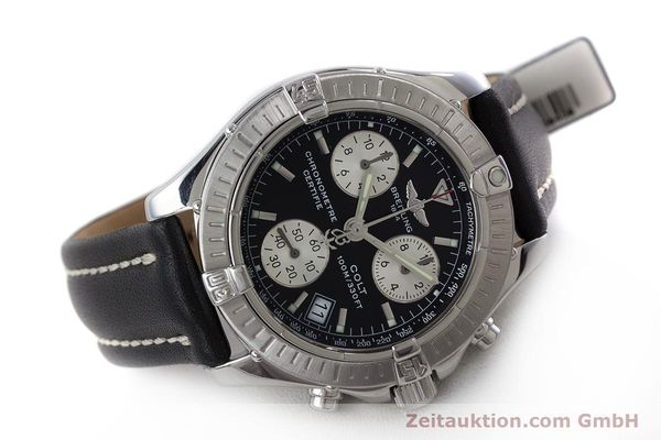 Used luxury watch Breitling Colt chronograph steel quartz Kal. B73 ETA 251.232 Ref. A73350  | 161010 03