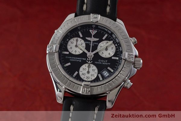 Used luxury watch Breitling Colt chronograph steel quartz Kal. B73 ETA 251.232 Ref. A73350  | 161010 04