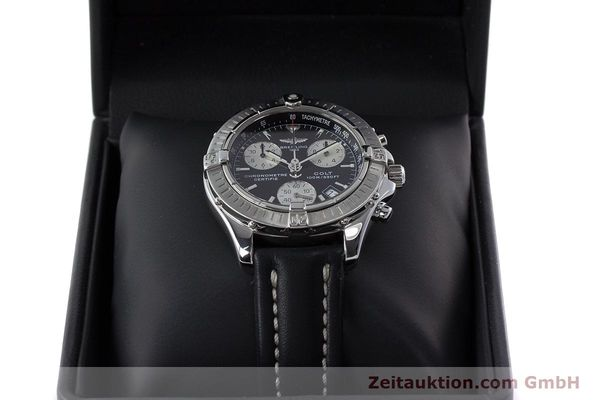 Used luxury watch Breitling Colt chronograph steel quartz Kal. B73 ETA 251.232 Ref. A73350  | 161010 07