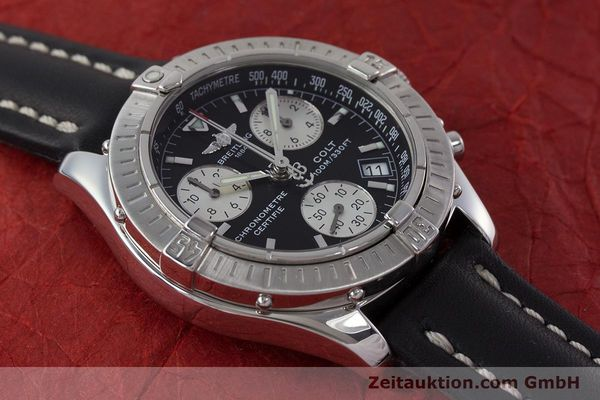 Used luxury watch Breitling Colt chronograph steel quartz Kal. B73 ETA 251.232 Ref. A73350  | 161010 13