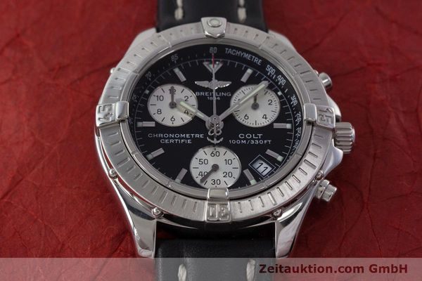 Used luxury watch Breitling Colt chronograph steel quartz Kal. B73 ETA 251.232 Ref. A73350  | 161010 14