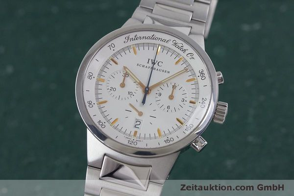 Used luxury watch IWC GST chronograph steel quartz Kal. 630 Ref. 3727  | 161017 04