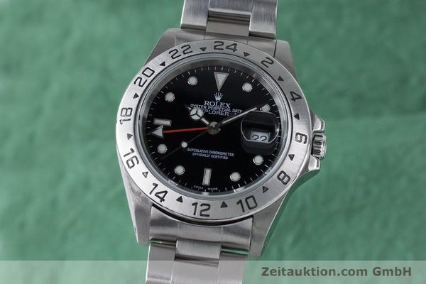 Used luxury watch Rolex Explorer II steel automatic Kal. 3185 Ref. 16570  | 161021 04