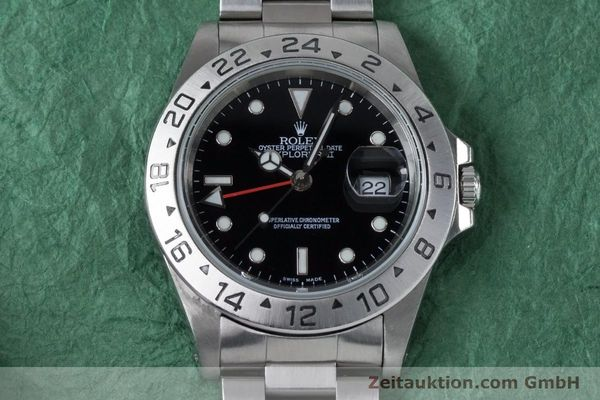Used luxury watch Rolex Explorer II steel automatic Kal. 3185 Ref. 16570  | 161021 16