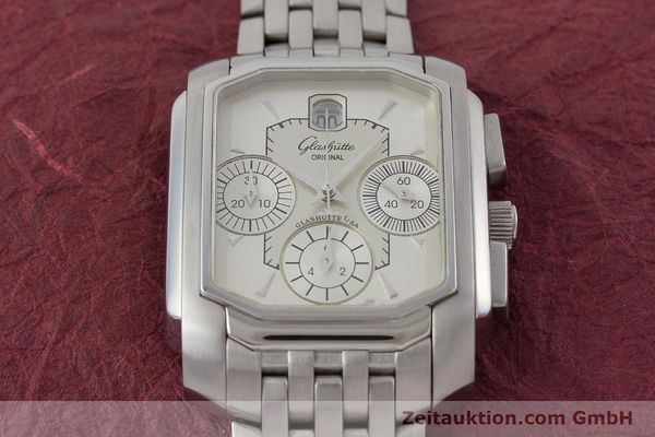 Used luxury watch Glashütte Senator chronograph steel automatic Kal. 39  | 161024 14