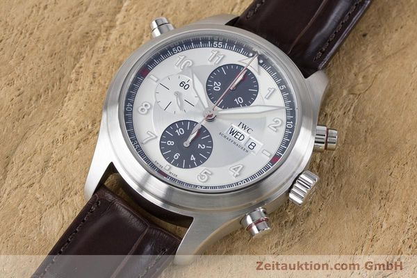 Used luxury watch IWC Fliegeruhr chronograph steel automatic Kal. 79230 Ref. 3718  | 161025 01