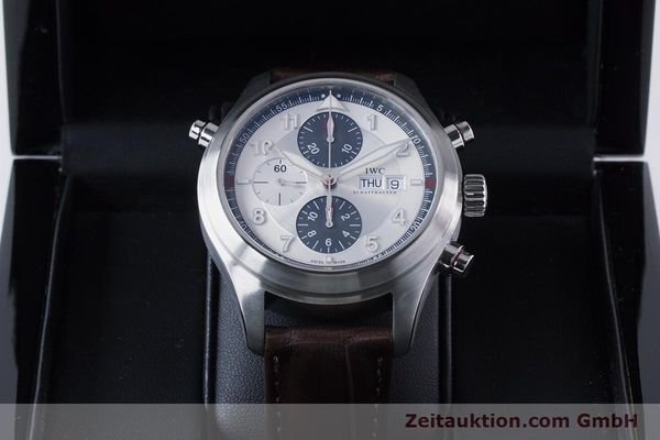 Used luxury watch IWC Fliegeruhr chronograph steel automatic Kal. 79230 Ref. 3718  | 161025 07