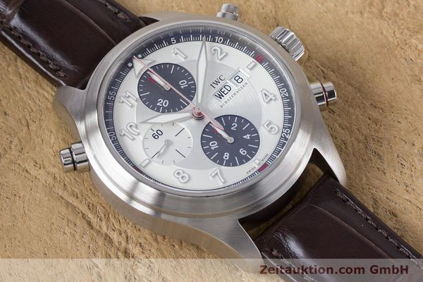 Used luxury watch IWC Fliegeruhr chronograph steel automatic Kal. 79230 Ref. 3718  | 161025 15