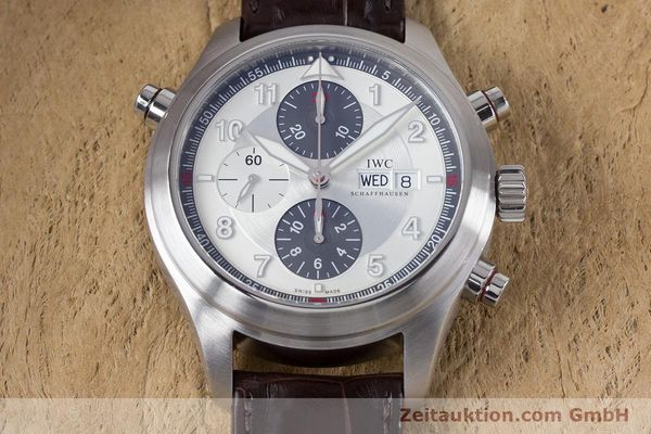 Used luxury watch IWC Fliegeruhr chronograph steel automatic Kal. 79230 Ref. 3718  | 161025 16