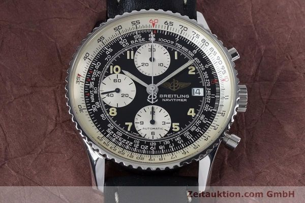 Used luxury watch Breitling Navitimer chronograph steel automatic Kal. B13 ETA 7750 Ref. A13022  | 161028 13