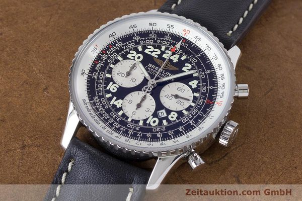 Used luxury watch Breitling Navitimer chronograph steel automatic Kal. B22 ETA 2892A2 Ref. A22322  | 161033 01
