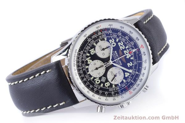 Used luxury watch Breitling Navitimer chronograph steel automatic Kal. B22 ETA 2892A2 Ref. A22322  | 161033 03
