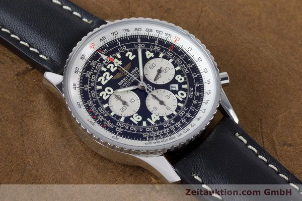 Used luxury watch Breitling Navitimer chronograph steel automatic Kal. B22 ETA 2892A2 Ref. A22322  | 161033 14