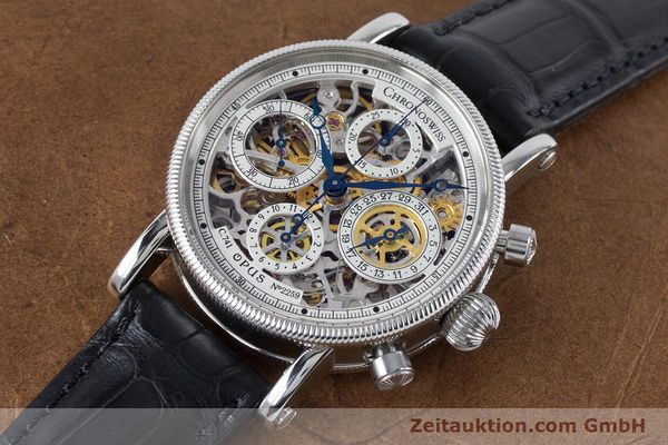 Used luxury watch Chronoswiss Sirius chronograph steel automatic Kal. 741 Ref. CH7523  | 161035 01