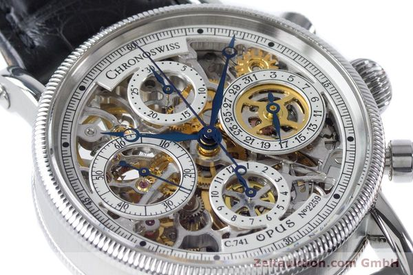 Used luxury watch Chronoswiss Sirius chronograph steel automatic Kal. 741 Ref. CH7523  | 161035 02