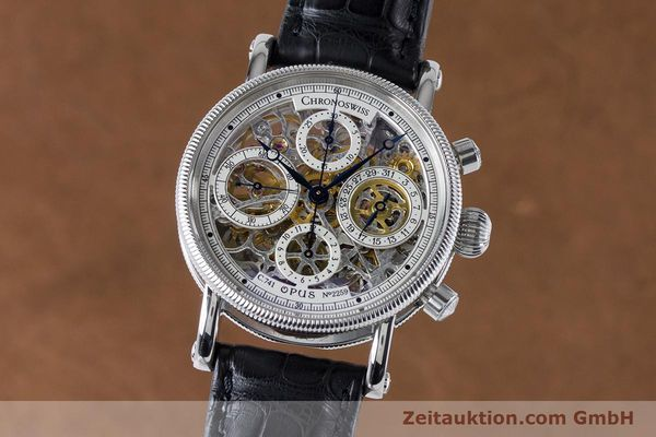 Used luxury watch Chronoswiss Sirius chronograph steel automatic Kal. 741 Ref. CH7523  | 161035 04