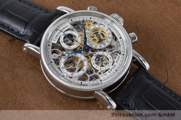 Used luxury watch Chronoswiss Sirius chronograph steel automatic Kal. 741 Ref. CH7523  | 161035 17
