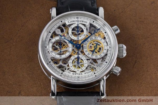 Used luxury watch Chronoswiss Sirius chronograph steel automatic Kal. 741 Ref. CH7523  | 161035 18
