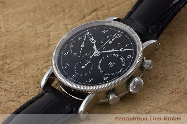 Used luxury watch Chronoswiss Kairos chronograph steel automatic Kal. 754 Ref. CH7523  | 161036 01