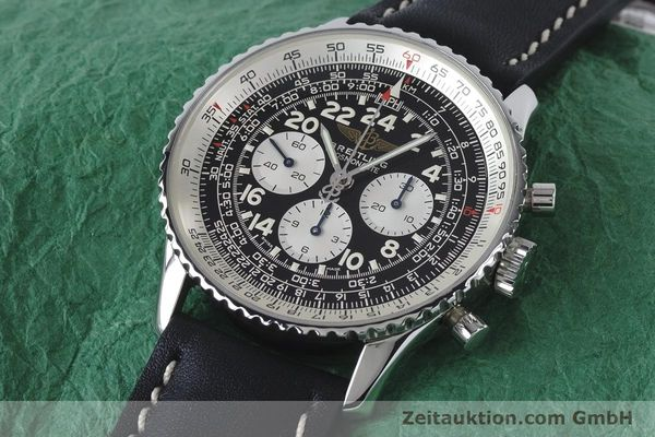 Used luxury watch Breitling Navitimer chronograph steel manual winding Kal. LWO 1873 Ref. A12023  | 161040 01