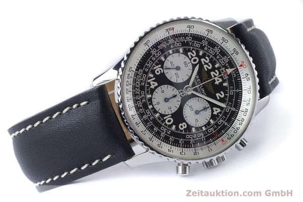 Used luxury watch Breitling Navitimer chronograph steel manual winding Kal. LWO 1873 Ref. A12023  | 161040 03